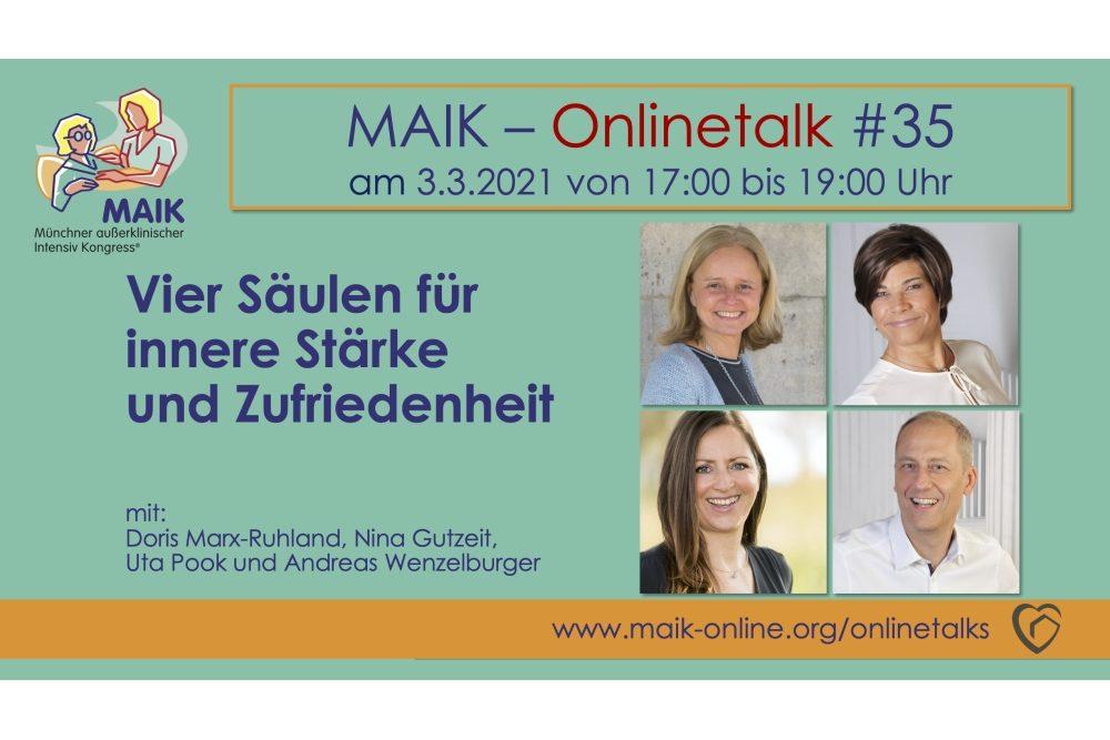 """MAIK Onlinetalk """"Vier Säulen für innere Stärke und Zufriedenheit"""""""