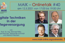 "MAIK-Onlinetalk ""Digitale Techniken in der Pflegeversorgung"""