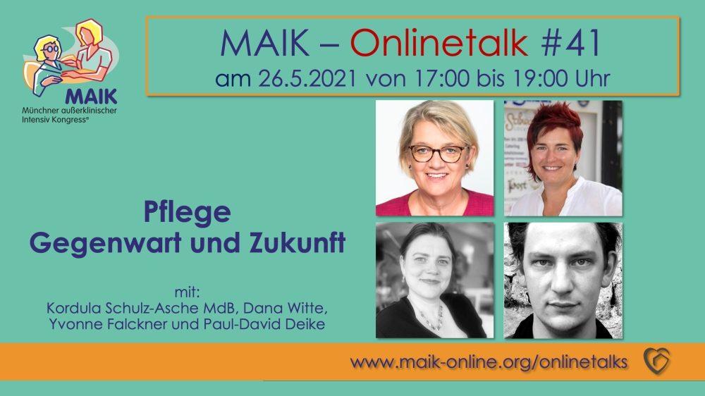 """MAIK Onlinetalk """"Pflege – Gegenwart und Zukunft"""""""