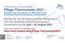 Pflege-Thermometer 2021 untersucht Situation in  der häuslichen Intensivversorgung