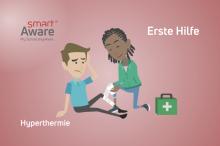 Jetzt online schulen: Erste Hilfe – Hyperthermischen Unfällen in der heißen Jahreszeit vorbeugen