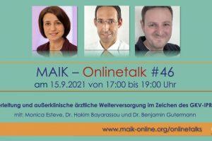 MAIK-Onlinetalks gehen in die nächste Runde