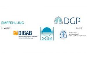 Rückruf Philips-Respironics; gemeinsame Empfehlungen von DGP, DIGAB, DGSM und BdP
