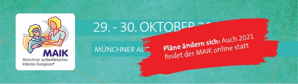 MAIK Münchner außerklinischer Intensiv Kongress wieder nur online
