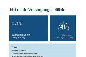 Nationale VersorgungsLeitlinie (NVL) COPD, 2. Auflage veröffentlicht